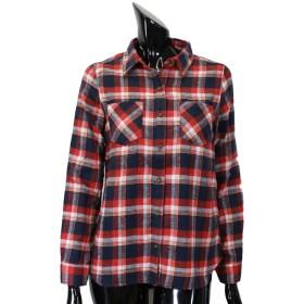 シャツ - CELL 起毛チェックシャツ 羽織 腰巻き 肩掛け シャツビスチェ トップス カジュアル 定番チェックシャツ