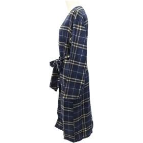 カーディガン - CELL チェックロングガウン ロングカーディガン ロングコート 羽織 カジュアル 腰リボン アウター