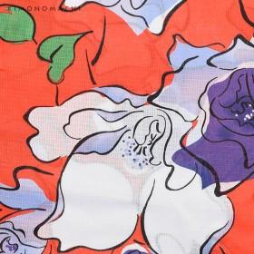 浴衣 - KIMONOMACHI 京都きもの町オリジナル 浴衣単品「オレンジレッド薔薇」S、フリー、TL、LL 花火大会、夏祭り、夏フェスに 女性浴衣お仕立て上がり浴衣大人かわいい