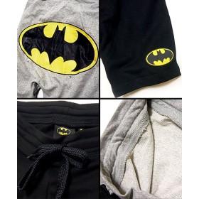 ハーフパンツ - EVERSOUL ショートパンツ ハーフパンツ メンズ 短パン : アメコミヒーロー「BAT MAN(バットマン)」のロゴプリント裏毛スウェットショートパンツ!