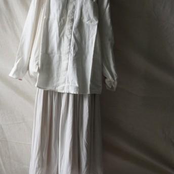リネンショートシャツホワイトリネンホームショートシャツ(ホワイト)