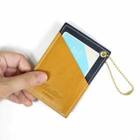 パスケース・定期入れ・カードケース - nico online store 【quitter】バイカラーベンガルカーフパスケース ギフト誕生日 お祝い プレゼント