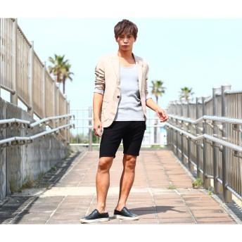 ハーフパンツ - improves メンズファッション ハーフパンツ メンズスラブ裏毛ジャガードショートパンツショーツ ニット 短パン 無地 カモフラ ボトムスハーフパンツ ジャージーパンツ メンズ ズボン メンズファッション メンズ お兄系 ストリート系 オラオラ系 大きいサイ
