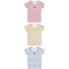 ベビーウェア - chuckleBABY スウィートガール小花柄インナーシャツ赤ちゃん 服 ベビー服 子供 下着 インナー花柄 保育園女の子 女児 肌着チャックルベビー/春先行