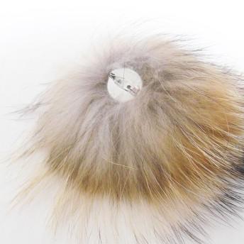 ニット帽 - SHES COMPANY 限定 秋冬 リッチ ファー ポンポン ニットベレー帽 ウール混 オーストリッチ 取り外し(可)