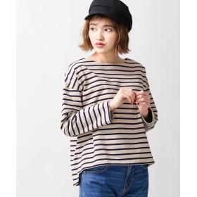 Tシャツ - WEGO【WOMEN】 バスクボーダーボートネックロンT BS18SP02-L028