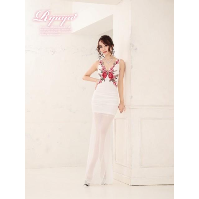 b40c8e0775e8d ドレス - Ryuyu キャバ ドレス キャバドレス キャバクラ ロングドレス パーティードレス Ryuyu 花柄刺繍