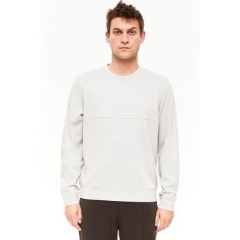 Tシャツ - FOREVER 21【MEN】 【シームステッチライントップ】Tシャツ カットソー 無地 グレー XS S M L おしゃれ 長袖tシャツ