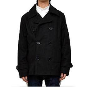 Pコート - Style Block MEN Pコート ピーコート ショート丈 タイト メルトン メンズファッション 秋冬