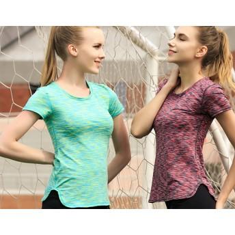 Tシャツ - MIU LADY Super Fit Tshirt 吸汗&速乾! 着心地良い スポーツ tシャツ 全4色【半袖 トップス レディース 大きいサイズおしゃれ ルームウエア ヨガウェア スポーツウェア ランニングウェア フィットネスウェア スポーティー ウォーキングト