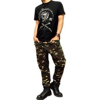 サルエルパンツ - EVERSOUL サルエルパンツ メンズ カモフラ 迷彩 総柄 サルエル カーゴパンツ 「Camouflage Sarrouel Pants」 総柄カモフラ迷彩のメンズサルエルカーゴパンツ!