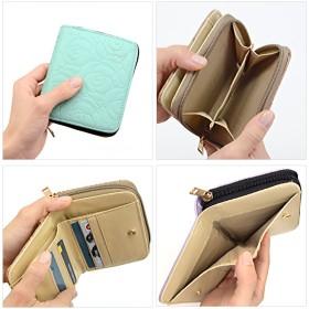 二つ折り財布 - petitcaprice 財布 レディース 二つ折り サイフ さいふ カメリア 花柄 メッシュ エナメル アウトレット 二つ折り財布 (ar-FOm) プチプラ 合皮 型押し エンボス おしゃれ かわいい 大人 小銭入れ カラー、種類豊富なお財布♪
