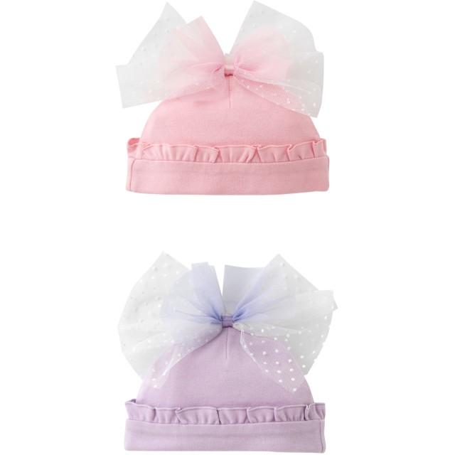ベビー帽子 - chuckleBABY スウィートガールチュールリボン帽子帽子 キッズ ベビー 新生児 ベビー服 女の子出産祝い 女の子 赤ちゃん ベール 帽子チャックルベビー