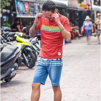 Tシャツ - JOKER Tシャツ メンズ 半袖Tシャツ カジュアル 半袖 春 春服 春物 メンズファッション レッド イエロー ブルー お兄系 オラオラ系BITTER ビター系 JOKER ジョーカー 新作 DIVINER ディバイナー