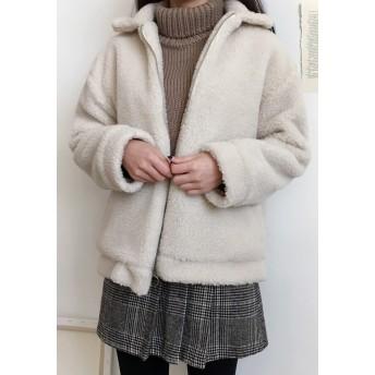 ジャケット・ブルゾン - gogosing 【GOGOSING】暖か~ボア毛ジップアップパーカ★レディースアウター レディースジャケット レディースパーカー もこもこふわふわ可愛い ゆったり 防寒 暖かい カジュアル 冬 韓国ファッション p000ckla