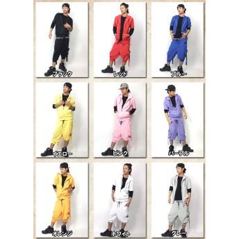 パンツ・ズボン全般 - Third enterprise SHOOWTIME 【ショウタイム】パイル セットアップ 半袖 タオル地ダンス 衣装 ヒップホップ ダンス衣装 ダンスウェアスポーツフィットネス メンズ レディース
