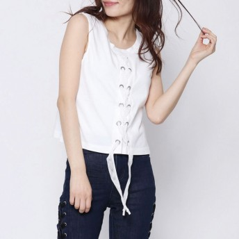 ノースリーブ - GUESS【WOMEN】 [GUESS] MILDRED CORSET TOP