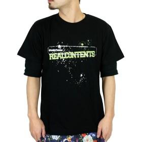Tシャツ - Maqua-store REAL CONTENTS(リアルコンテンツ) Tシャツ メンズ 半袖 プリント rcst1211 大きいサイズ 半袖tシャツ ファッション カットソー かっこいい おしゃれ 人気 ストリート系 ブランド 2l 3l xl xxl 白 黒 /