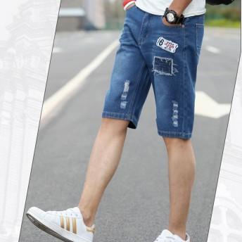 ショートパンツ - Rodic ショートパンツ メンズ デニム ショーツ 短パン ハーフパンツ 半パン デニムショートパンツ カジュアルパンツ メンズファッション