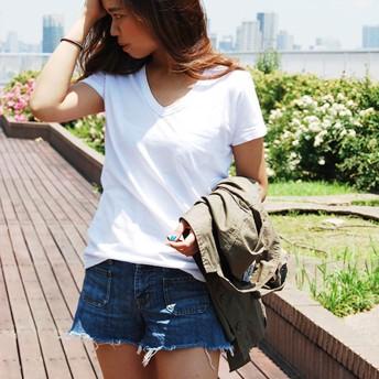 Tシャツ - Shelly island Vあき半そでポケットTシャツ