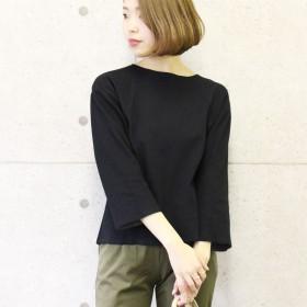 カットソー - CELL バックスリットカットオフトップス 無地 シンプル 大人女子 長袖 切りっぱ Tシャツ ロンT