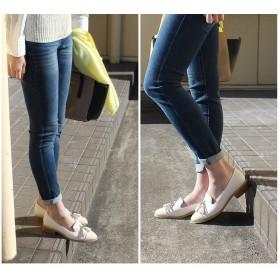 ローファー - AmiAmi 低反発インソール!タッセルローファーパンプスローヒール/レディース/スエード/春夏/バイカラー/マニッシュ/シューズ/痛くない/オペラシューズ 靴