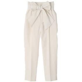 パンツ・ズボン全般 - Silky リボンベルト付きセンタープレステーパードパンツ/春夏
