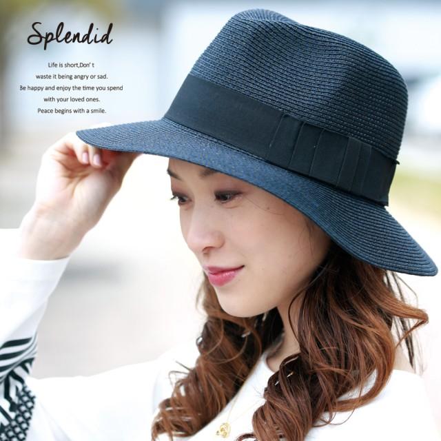 帽子全般 - AFFRANCHIR 太テープリボン中折れペーパーハット