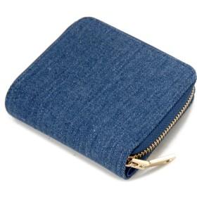 二つ折り財布 - S-SELECT Jolie Joli ジョリージョリ 二つ折りラウンド財布 2017901-013 デニム レディース 財布 ブルー×ブルー
