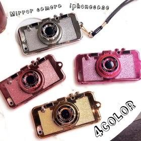 スマホケース - Petit Emma ミラー付き カメラ型 ストラップ付 iphone8 iphone7 iphone6s/6 iphone6splusiphone6plusアイフォンケース スマートフォンケース スマホケース 携帯 モバイルケース カメラ iphoneケース