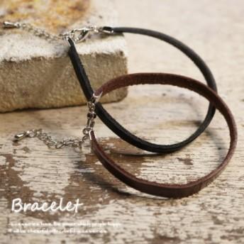 ブレスレット・バングル - YUKATANゆかたん シンプルだからこそ合わせやすい!18cmタイプの牛皮革ブレスレット【メンズ レディース レザーブレスレット】 アクセサリー