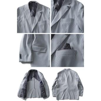 ジャケット・ブルゾン - 大きいサイズの店ビッグエムワン 【大きいサイズ】【メンズ】SARTORIA BELLINI Cool Max サッカーストライプストレッチジャケットazjk3418301