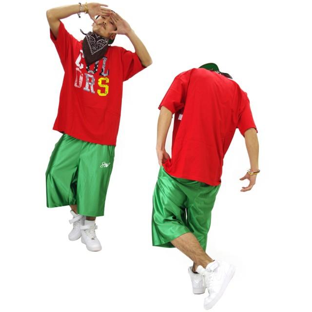 ハーフパンツ - Third enterprise SHOOWTIME【ショータイム】バスパン ダンス バスケット パンツ ハーフ ダンスパンツダンス 衣装 ヒップホップダンスウェアスポーツ フィットネス B系 ファッション メンズ レディース