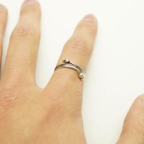 リング - YUKATANゆかたん シルバー925 メンズ レディース リング シンプル 紐が巻きついたような可愛い指輪 アクセサリー
