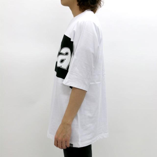 Tシャツ - MARUKAWA B ONE SOUL Tシャツ メンズ 夏 ドルマン ロゴ プリント 半袖 ビッグシルエット ホワイト/ブラック M/L【ティーシャツ切替え ストリート アメカジ カジュアル】