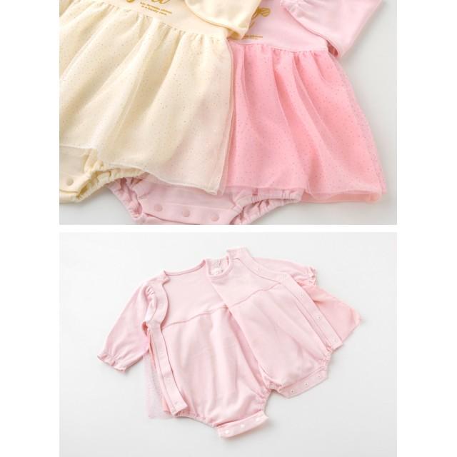 da8eb4c20e5db べビーロンパース・カバーオール - chuckleBABY スウィートガール スカート付き ロンパース ベビー服 女の子 春 出産