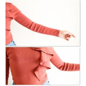 ニット・セーター - Sawa a la mode 情熱的に滑らかに。レディース ファッション トップス ニット 長袖 ミディアム丈 ブラウン フリーサイズ M L LL MサイズLサイズ LLサイズ 9号 11号 13号 15号 サワアラモード Sawa a la mode 可