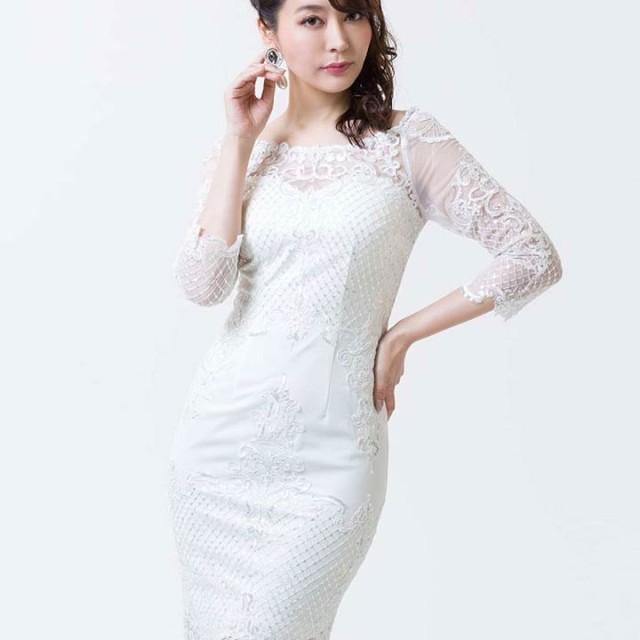 4cbb4c53ec26e ドレス - Dazzy ドレス キャバ 大きいサイズ SMLサイズ  Alice レースxスパンコール七