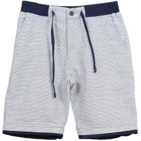 ハーフパンツ - Style Block MEN パンツ ショートパンツ イージーパンツ ショート丈 デニム ボーダー メンズ オフホワイト