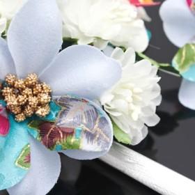 和装小物 - SOUBIEN 髪飾り 2点セット 水色 ブルー 花 房紐 羽 フェザー コサージュ 成人式 卒業式 振袖 袴 前撮り 髪留め ヘアアクセサリー 日本製