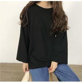 Tシャツ - Miniministore tシャツ レディース 長袖 ゆったり トップス 春夏 クルーネック カットソー 人気