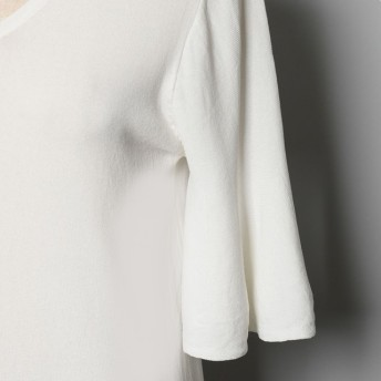 ニット・セーター - Re: EDIT さらりと着こなせる上品トップス 袖フレアニットソートップス トップス/カットソー・Tシャツ
