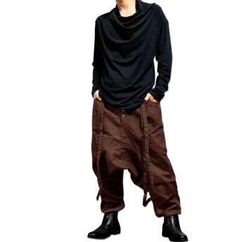 サルエルパンツ - EVERSOUL サルエルパンツ メンズ サスペンダー付き 「Kawanca Sarrouel Pants」サスペンダー付きで着こなし色々サロン系ルーズシルエットサス付きメンズサルエルパンツ!【黒 ブラック ダンス】
