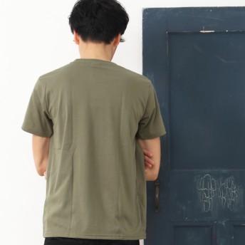 Tシャツ - SHOT+ メンズ プリント Tシャツ 半袖 クルーネック 文字 ロゴ インナー ホワイト ブラック カーキ ピンク グレー ブルー M Lサイズ【210】[11][MT] 【SHOT ショット】『z』[170522]