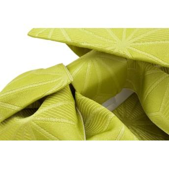 浴衣・着物の帯 - SOUBIEN 作り帯 ブランド Jouer etecouleur 黄緑色 グリーン 麻の葉 リボン りぼん 浴衣帯 結び帯 付帯 つくり帯 浴衣向け 日本製