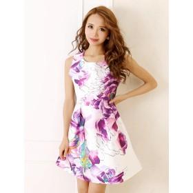 ドレス - Ryuyu キャバ ドレス キャバドレス キャバクラ キャバワンピース パーティードレス RyuyuChick フレアー ワンピース 花柄ワンピキャバ 激安 セクシー ドレス