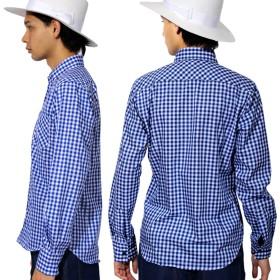 シャツ - 8(eight) チェックシャツ メンズ シャツ 長袖全3色 ギンガム チェック シャツ 長袖 ロングコットン 綿 ジャケット ブルゾンに◎アメカジ系サロン系 キレカジ系 に大人気!//シャツ