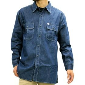 シャツ - MARUKAWA EDWIN シャツ 大きいサイズ メンズ 春 秋 デニム 長袖 ブルー/ネイビー/ワンウォッシュ2L/3L/4L/5L【ブランドポケット】