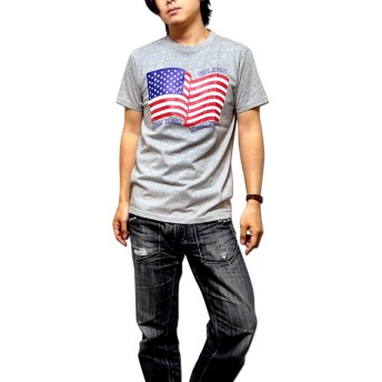 Tシャツ - EVERSOUL NEW YORK YANKEES ニューヨークヤンキース Majestic Japan マジェスティック ジャパン /ヤンキース星条旗プリントメンズ半袖Tシャツ!【アメリカ国旗 ヤンキースTシャツ】