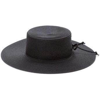 ハット - 夢展望 帽子 レースアップ つば広 紫外線対策 トレンド ブラック ライトベージュ ダークベージュ 黒 F レディース 夢展望